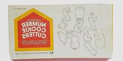 Vintage Collectible NUMBER COOKIE CUTTERS Metal Creative Hou