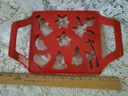 Vintage Cookie Cutters 9 All in One Press with Handles 1983