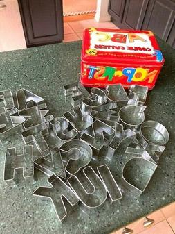 WILLIAMS SONOMA  ALPHABET COOKIE CUTTERS IN COLLECTIBLE LUNC